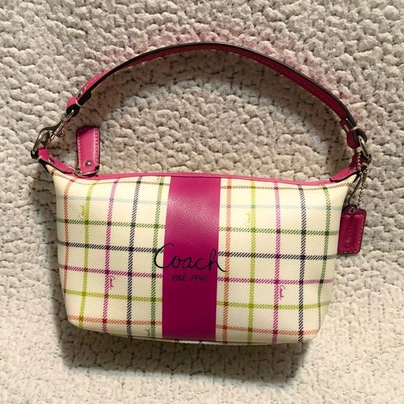 Coach Handbags - Coach Heritage Tattersall Multi Color Cosmetic Bag